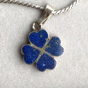 Vintage sterling lapis lazuli necklace